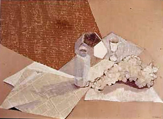 Constance Kiermaier Collages Collage with mixed media on corregated cardboard