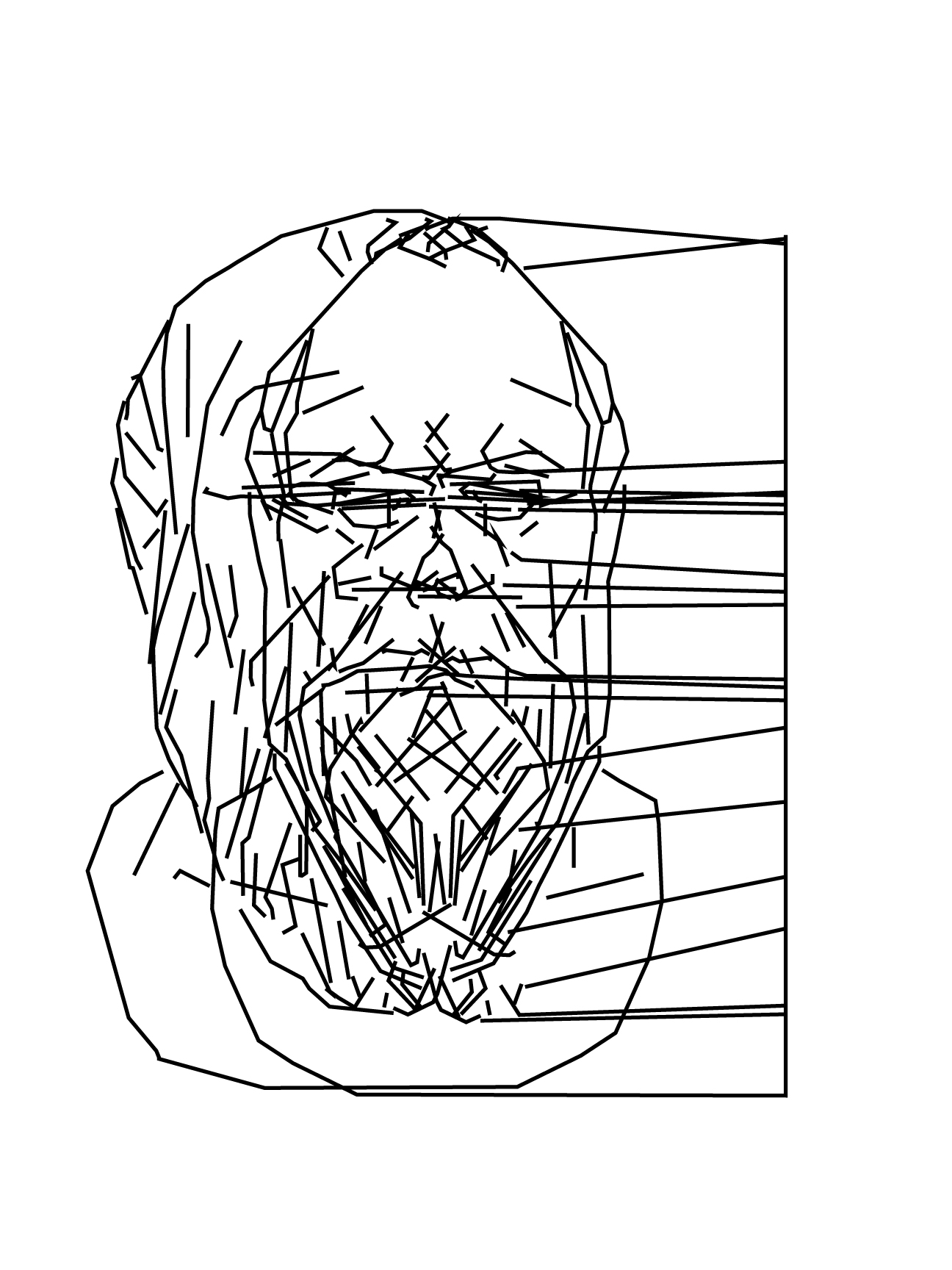 konstantin Last 28 seconds of the life of Socrates vinyl cut on paper