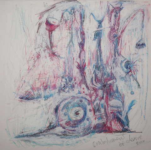 ABSTRACT NARRATIVES Oil crayon and color pencil on paper