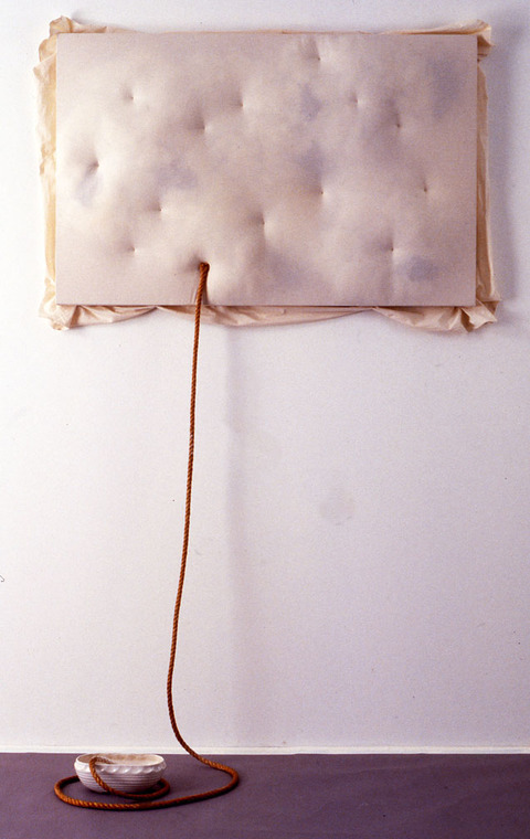 Marcia Cooper SURFACE UNDULATIONS of DISLOCATION with Exhibition Views Fabric, fibers, rope, ceramic, flour