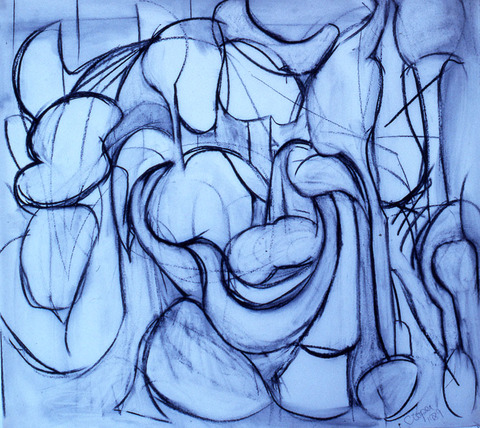 Marcia Cooper ON PAPER charcoal & erasures on paper