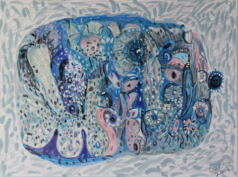 ABSTRACT NARRATIVES Gouache and color pencil on paper