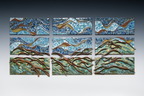 Cristina Pellechio ceramic wall work- multi