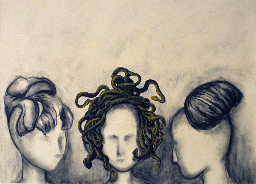 Cristina de Gennaro Miscellaneous Drawings. Charcoal, graphite, watercolor, collage on paper