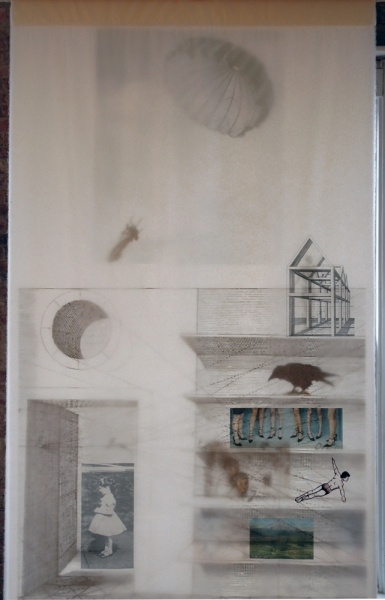 Cristina de Gennaro Pentimenti Drawings Gouache, charcoal, pencil, archival ink jet prints on gampi paper.