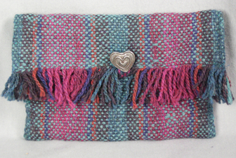 Sandra Maresca Fiber accessories for home and apparel handwoven wool