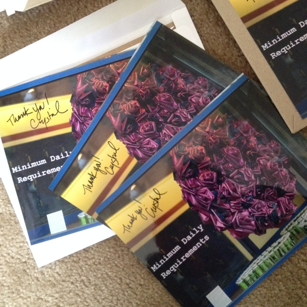 Push Down & Tango Backers of the project received rewards; signed photos of the finished project, poems and stickers..