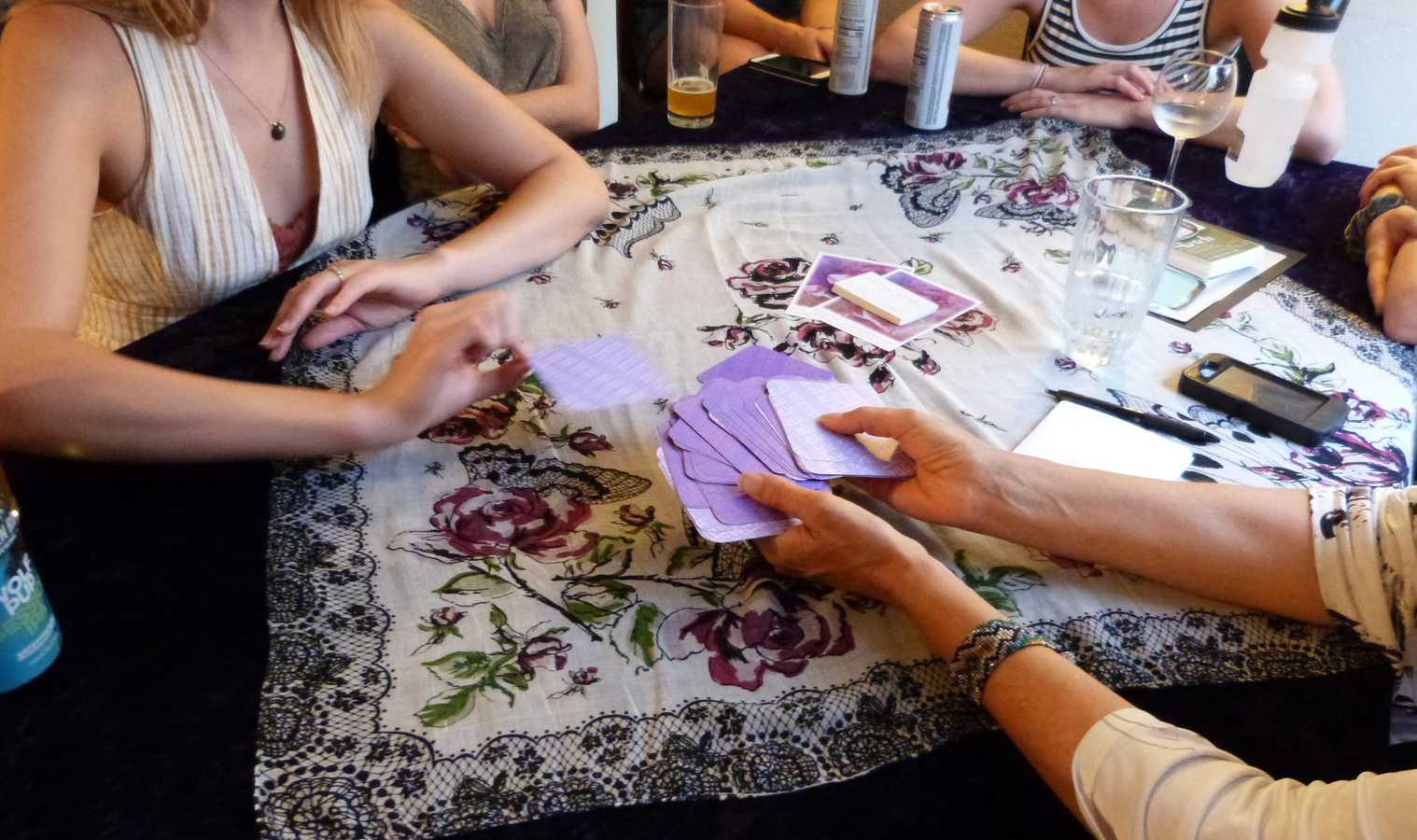 Oracle Readings Guests choose their own cards & guidance