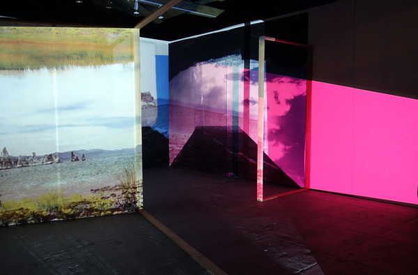 Cybele Lyle Boxed Out at The SFAC Grove St. Gallery Digital Prints, Fabric, Wood, Video Projection