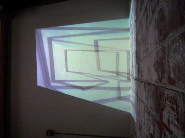 Cybele Lyle Producing Space at Interface Gallery Video Projection (Still)