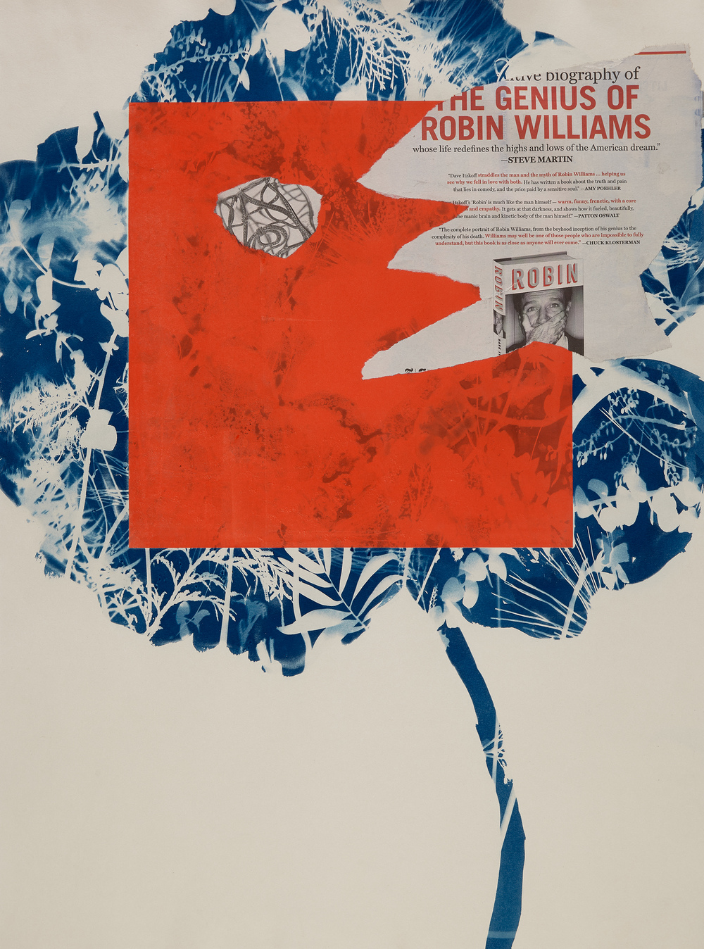 Cynthia MacCollum Ephemera Cyanotype, monotype, chine collet