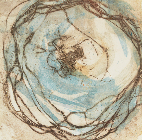 Cynthia MacCollum Circles and Line Collagrpah Monoprint