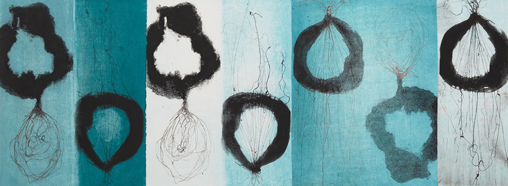 Cynthia MacCollum Abstracts collagraph monoprint
