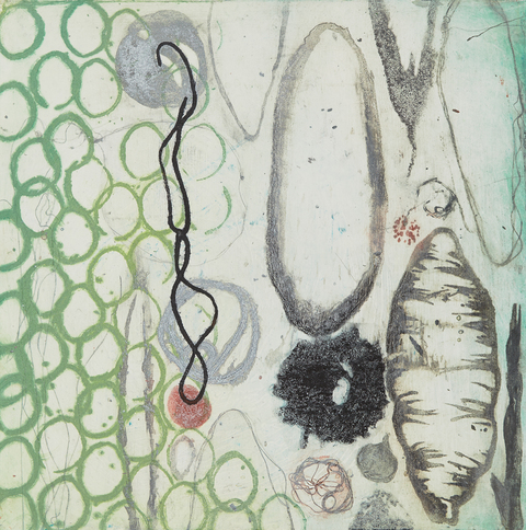 Cynthia MacCollum Circles and Line Collagraph Monoprint