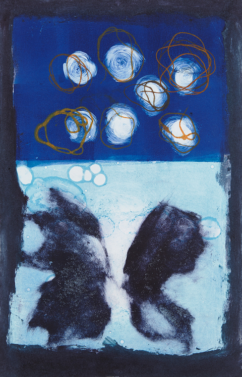 Cynthia MacCollum Metamorphosis Collagraph Monoprint