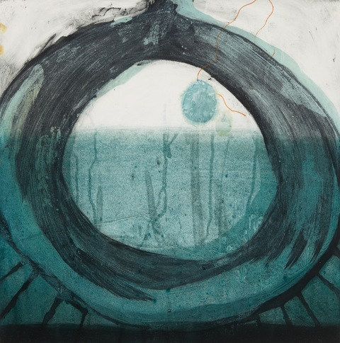 Cynthia MacCollum Orifice collagraph monoprint