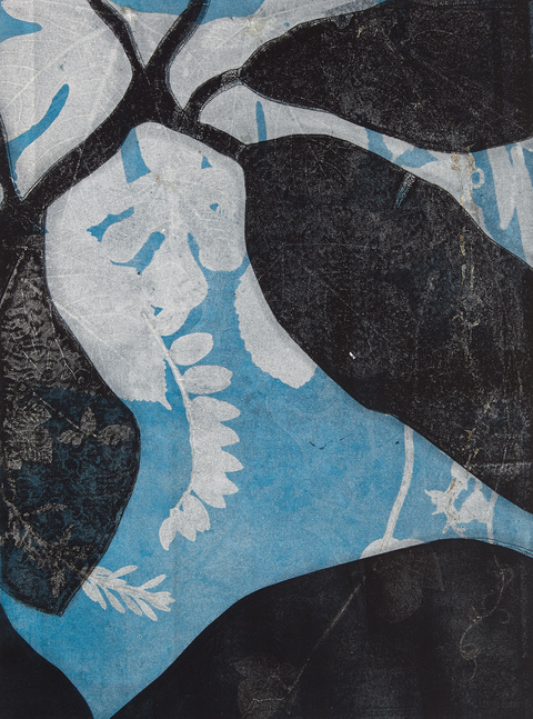Cynthia MacCollum Skopelos collagraph monoprint