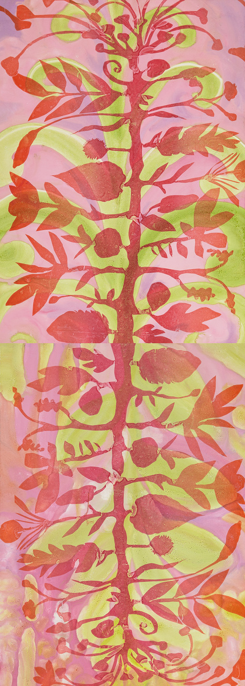 Flowerpower Tree of Life Diptych
