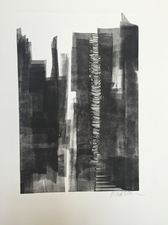 cynthia whalen Mixed Media / New Work Akua Monotype with graphite