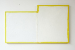 Damien Hoar de Galvan painting 2008-2012 oil, spray paint on two canvas's