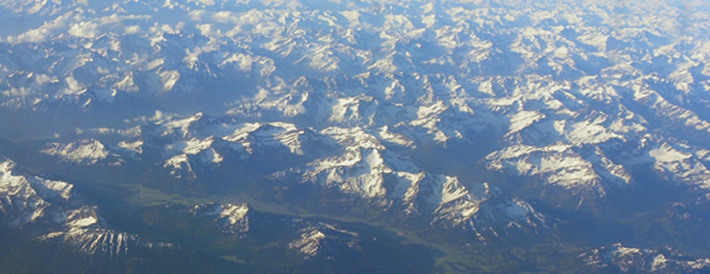 Photgraphy At 30000 over the Swiss Alps