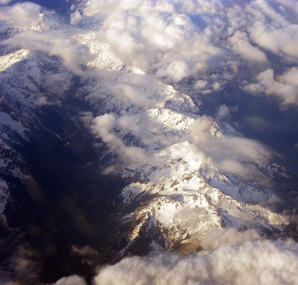 Photgraphy At 20000 over the Swiss Alps