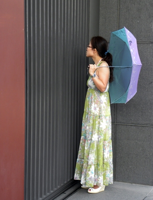 Photgraphy Woman with Umbrella, China