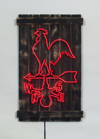 Daniel A Bruce Homemade neon, wood, transformer
