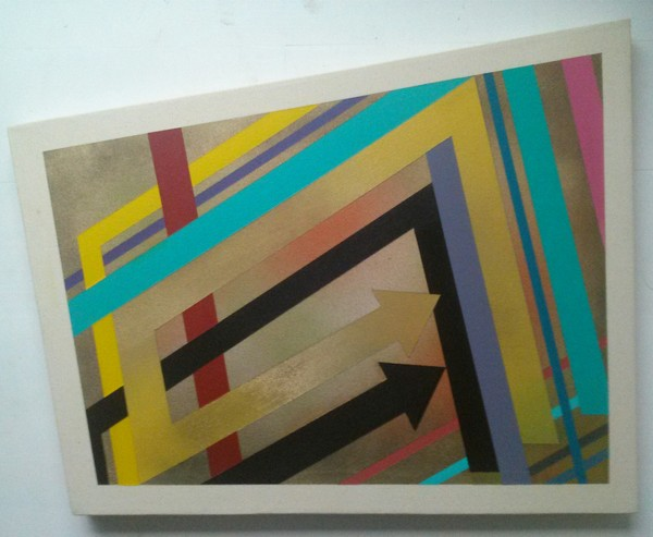 Daniel Carello Paintings Acrylic and spray paint on canvas