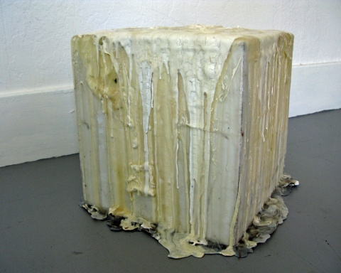 Daniel Healey Glue  glue, latex paint, found sculpture pedestal