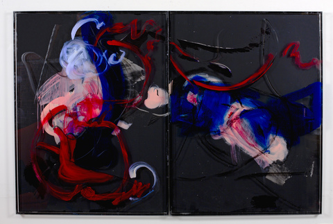 DANIELLE FRANKENTHAL 2016-2020 acrylic paint and oil stick on Acrylic resin