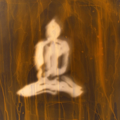 Daniel Ranalli  Buddha Photogram Series Chemically toned photogram- cliche verre, unique