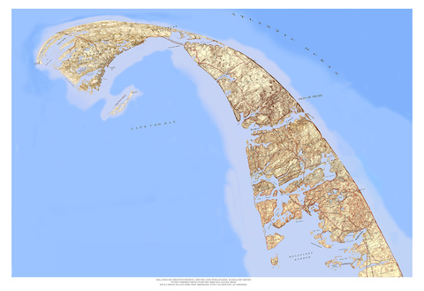 Daniel Ranalli  Re-Mapping Project Hand -Altered Topographic Map - Archival pigment print