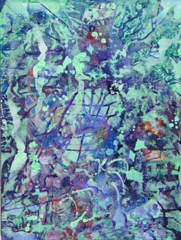 DANIEL ROSENBAUM Paintings  2012-1013 acrylic,paper,panel