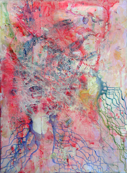 DANIEL ROSENBAUM Paintings 2011-2012 ink, acetate, paper, panel, acrylic