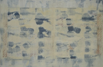 Daniel Stern Works on Canvas oil, silk screen on linen
