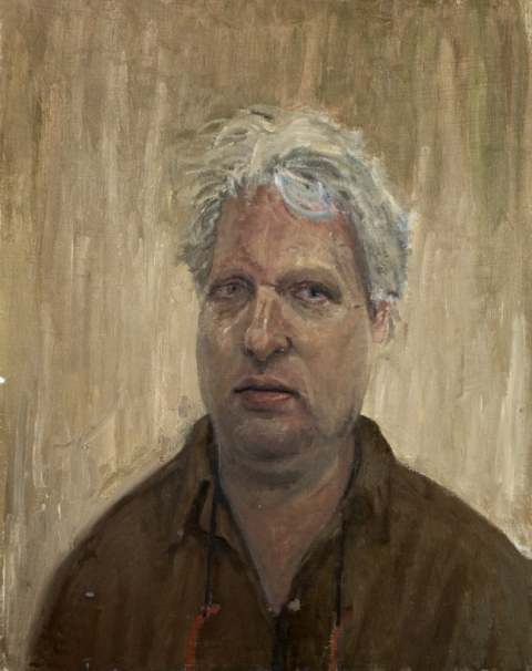 Danny Turitz Close Portraits oil on panel