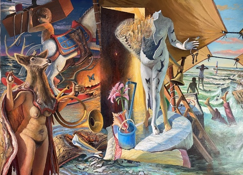 Dan Sheridan Gustin Large Narratives Acrylic on canvas