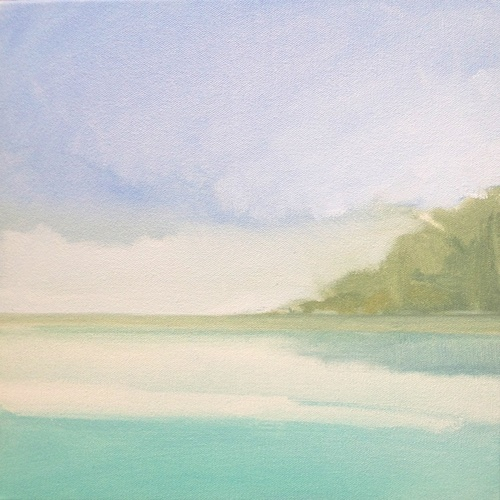 Daphne Chapin small seascape oil on canvas