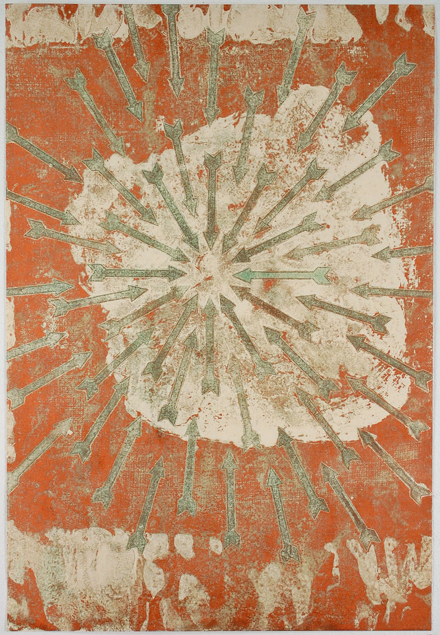 DAVID A. CLARK Work 2014 - 2016 Encaustic Monoprint on Kozo