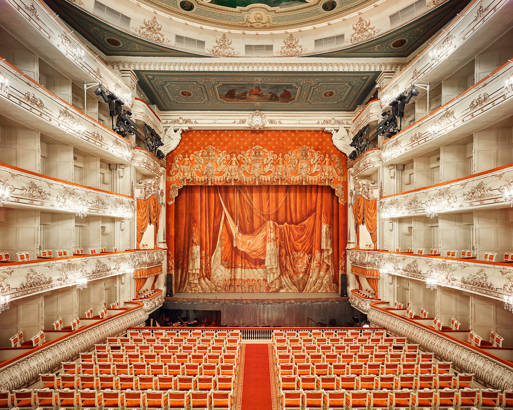RUSSIA: A Bright Future,  2014-2015 Mikhailovsky Theatre Curtain, St Petersburg, Russia, 2014