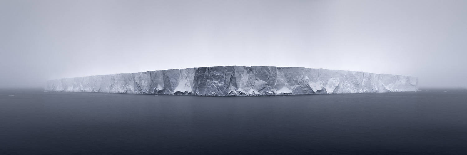 NORTH/SOUTH Giant Tabular Iceberg in Fog, Antarctica, 2007