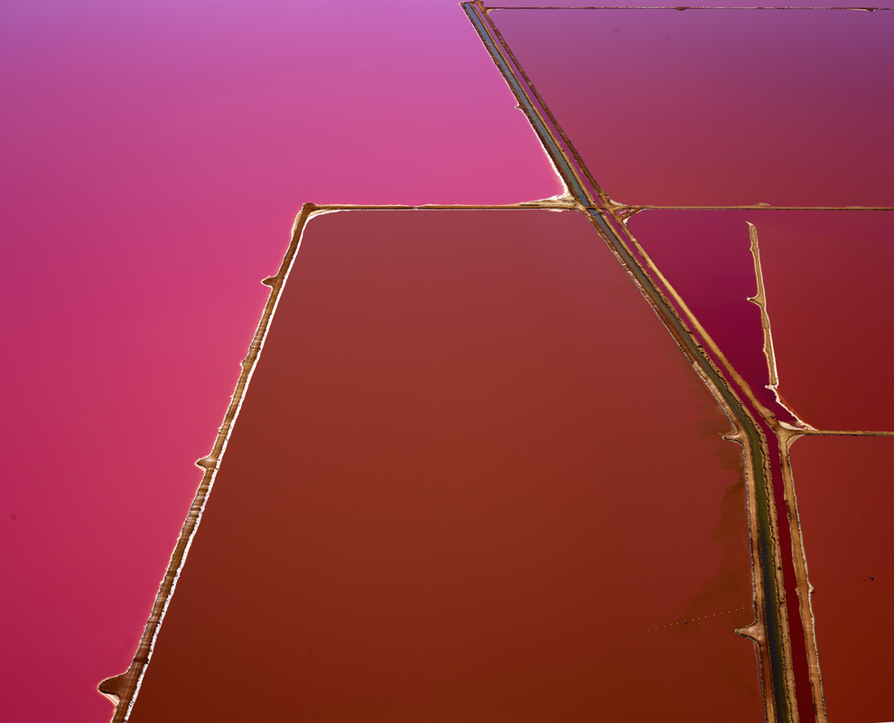 SALT:  Fields, Plottings and Extracts 2015-2016 Pink Pools, Hut Lagoon,  Western Australia, 2015