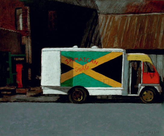 Earlier Landscape Paintings Jamaican Grill