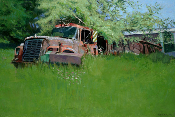 Earlier Landscape Paintings Truck