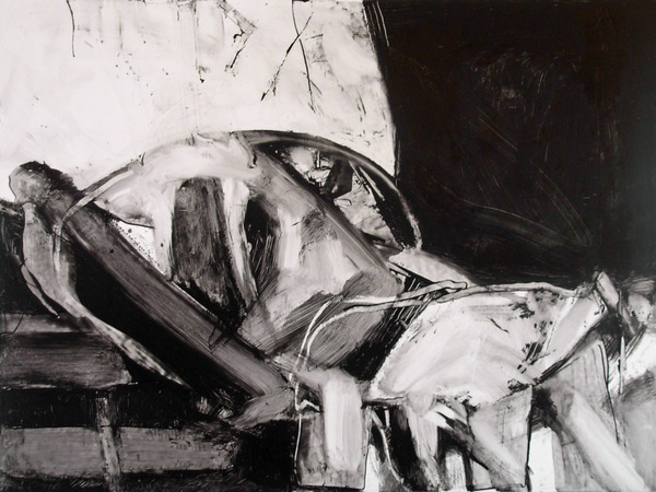 Black & White Paintings Wound (Gabby Giffords)