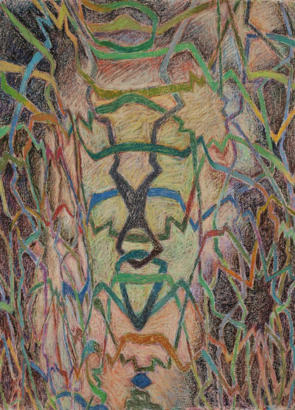 David Fratkin Drawings oil pastel, colored pencil/paper