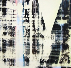 Artist David A. French : Paintings and Works on Paper Pull Paintings oil and aluminum powder on panel