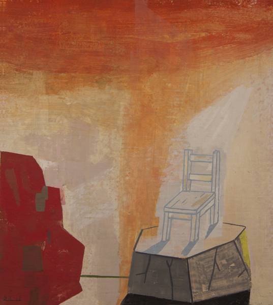 Archive: Paintings on Paper Child's Chair in a Beam of Light