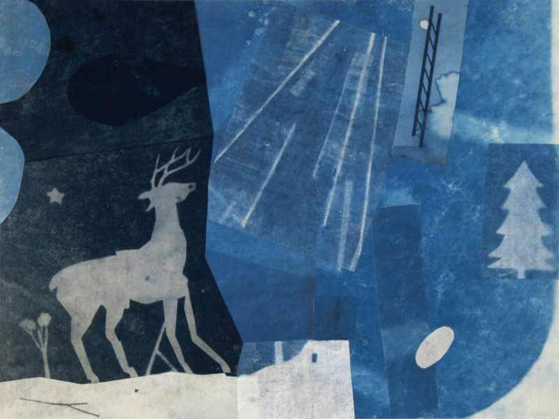 Cyanotype Collage 2018 The Healing Dream